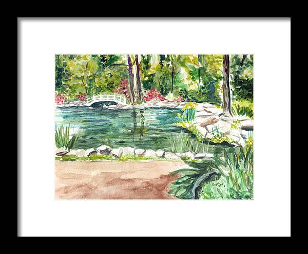 Pond Framed Print featuring the painting Sayen Pond by Clara Sue Beym