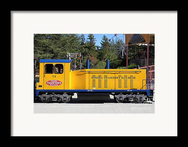Sonoma Framed Print featuring the photograph Scale Locomotive - Traintown Sonoma California - 5d19237 by Wingsdomain Art and Photography
