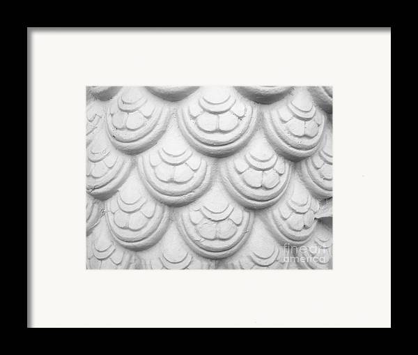 Abstract Framed Print featuring the relief Scale Of Naga Statue by Phalakon Jaisangat