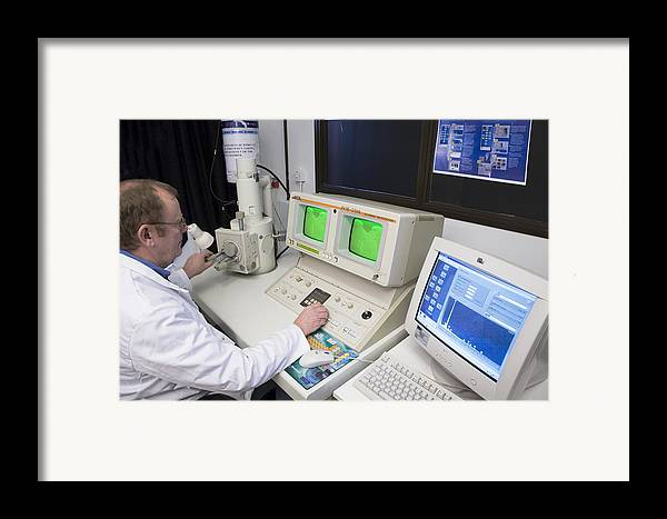 Microscope Framed Print featuring the photograph Scanning Electron Microscope by Paul Rapson
