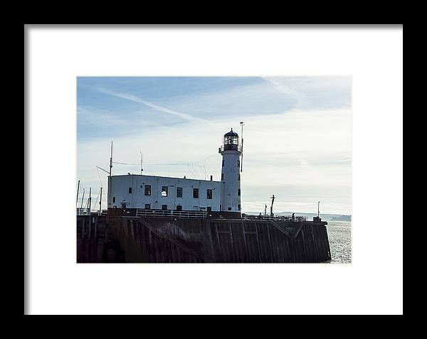 Yorkshire Canvas Framed Print featuring the photograph Scarborough Lighthouse by Trevor Kersley