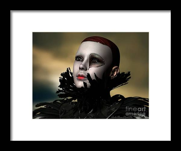 Scarred Framed Print featuring the digital art Scarred Beauty by Sandra Bauser Digital Art