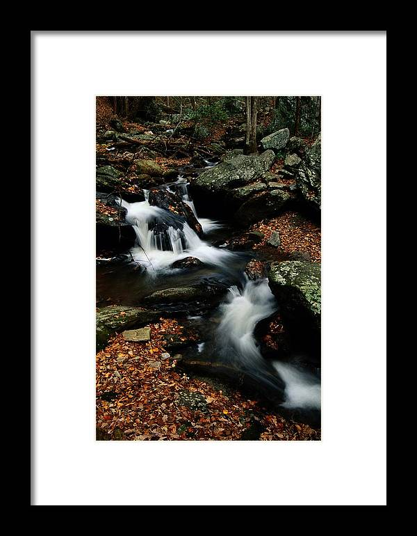 Chattahoochee National Forest Framed Print featuring the photograph Scenic View Of A Waterfall On Smith by Raymond Gehman