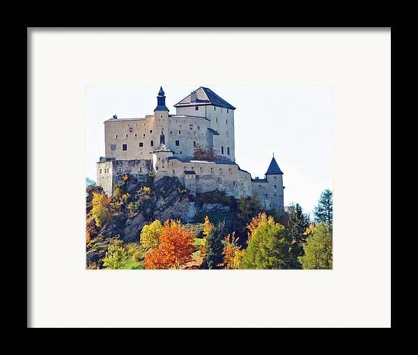 Europe Framed Print featuring the photograph Schloss Tarasp Switzerland by Joseph Hendrix