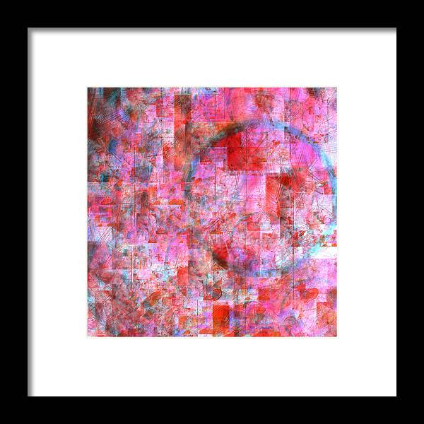 Abstract Framed Print featuring the digital art Schooling Bluefish 2 by Scott Smith