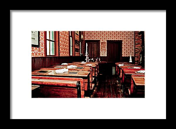 School Rooms Framed Print featuring the photograph Schools Days by Randall Cogle