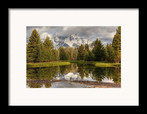 Grand Tetons Framed Print featuring the photograph Schwabacher's Landing by Charles Warren