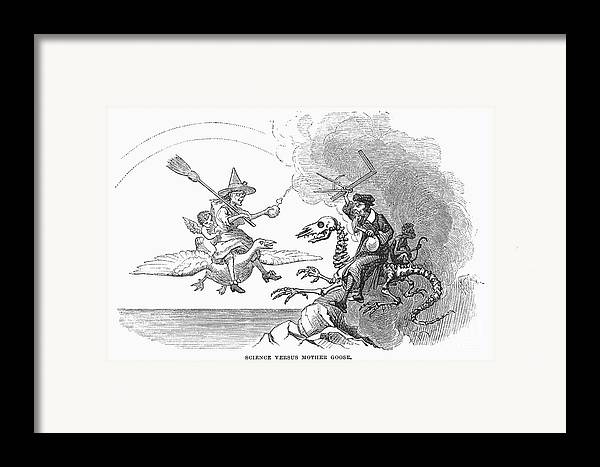 1876 Framed Print featuring the photograph Science Vs. Mother Goose by Granger