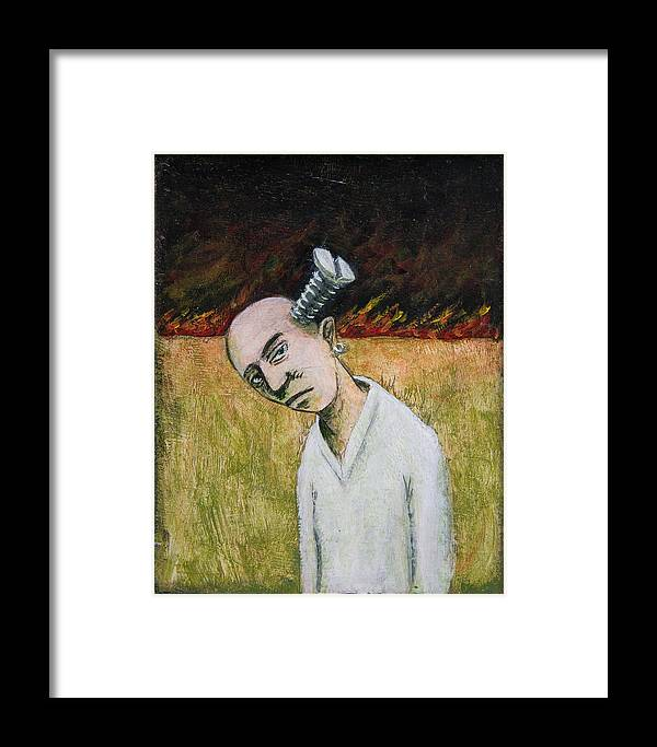 Screw Framed Print featuring the painting Screwhead by Canis Canon