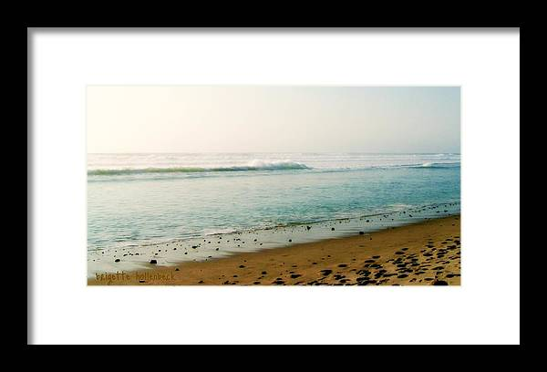 Sea And Sand Framed Print featuring the photograph Sea And Sand by Brigette Hollenbeck
