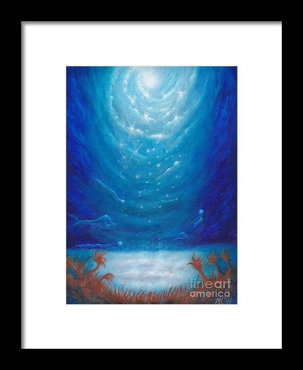 Aliens Framed Print featuring the painting Sea Galaxy by Michelle Cavanaugh-Wilson