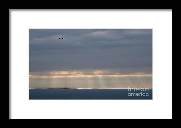 Paisaiak Framed Print featuring the photograph Sea Ligths by David Gimenez Aldalur