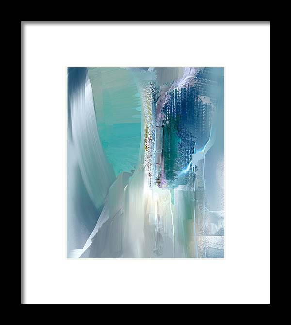 Abstract Framed Print featuring the mixed media Sea Odyssey Nb 3 by Davina Nicholas
