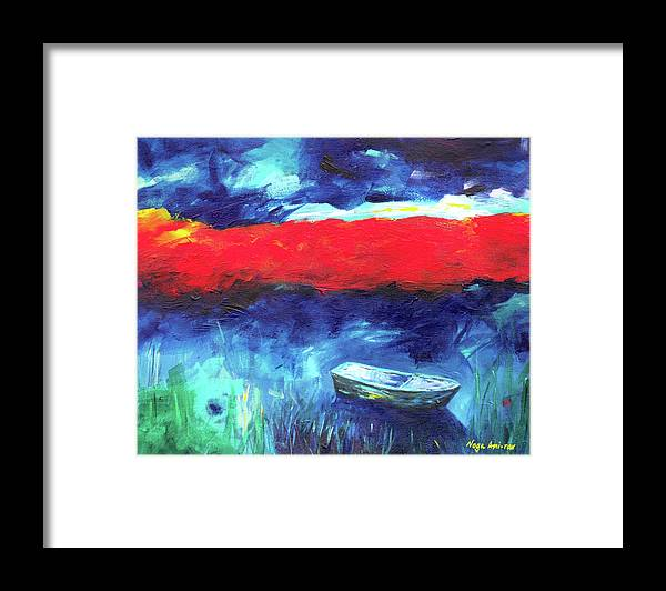 Sea Of Galilee Framed Print featuring the painting Sea of Galilee after the storm by Noga Ami-rav