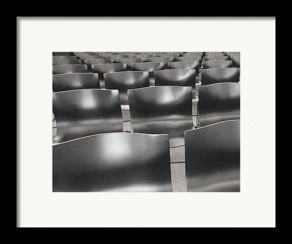 Chairs Framed Print featuring the photograph Sea Of Seats I by Anna Villarreal Garbis
