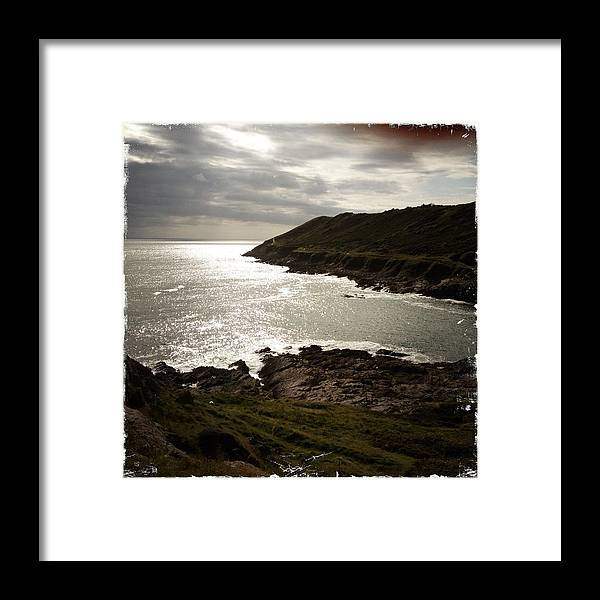 Gower Peninsula Framed Print featuring the photograph Sea Scape On The Gower by John Colley