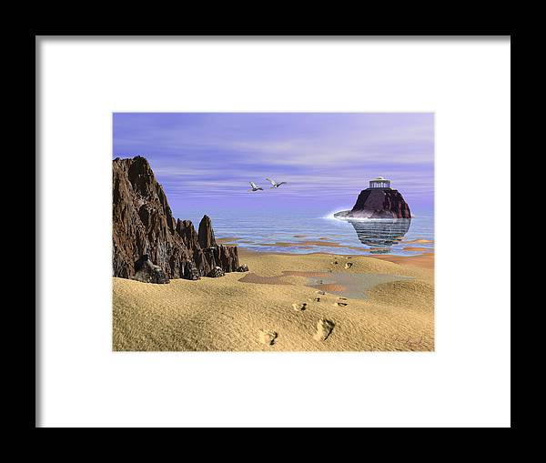 Nature Framed Print featuring the digital art Sea Shrine by Christopher Lynch