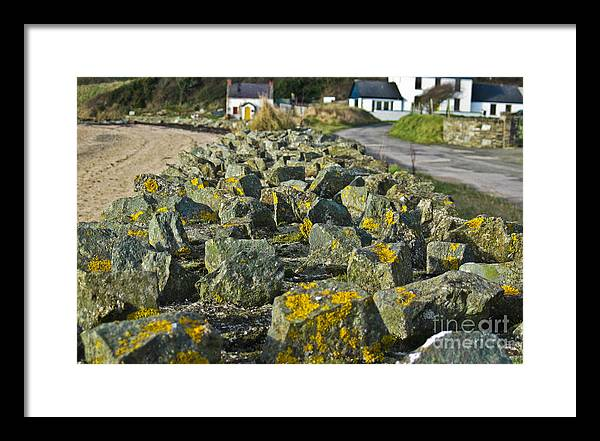 Ireland Framed Print featuring the photograph Sea Wall At Inch Island by Black Sun Forge
