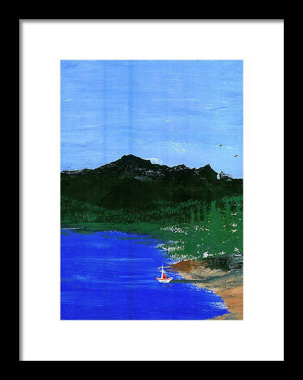 Framed Print featuring the painting Seaside by Harry Richards