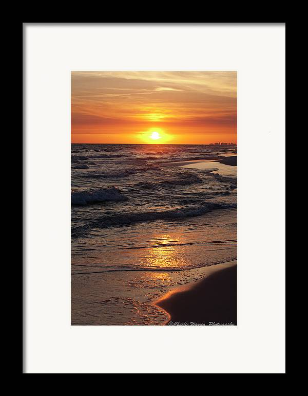 Sunset Framed Print featuring the photograph Seaside Serenade I by Charles Warren