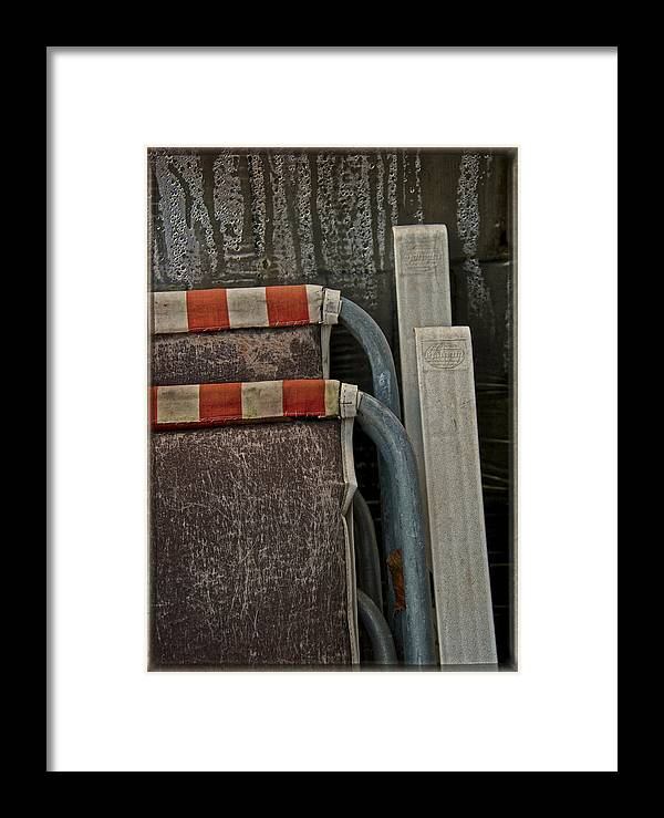 Chairs Framed Print featuring the photograph Seasons Come Seasons Go by Odd Jeppesen