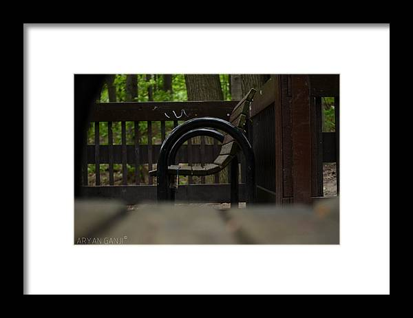 Chair Framed Print featuring the photograph Seat for U and I by Aryan Ganji