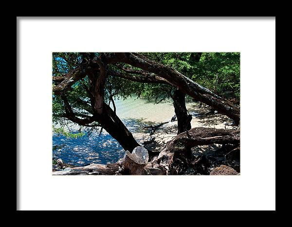 Interior Design Framed Print featuring the photograph Secluded Beach by Paulette B Wright