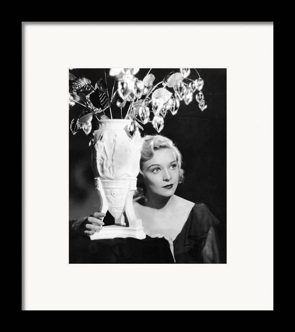 1930s Movies Framed Print featuring the photograph Secret Agent, Madeleine Carroll, 1936 by Everett
