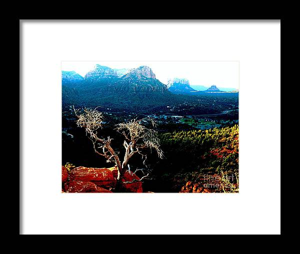 Sedona Framed Print featuring the photograph Sedona V by Christine S Zipps