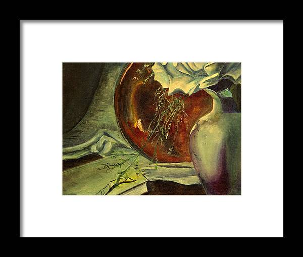 Rose Framed Print featuring the painting Seek Learning by Nila Jane Autry