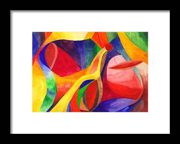 Bright Framed Print featuring the painting Seeking by Peter Shor