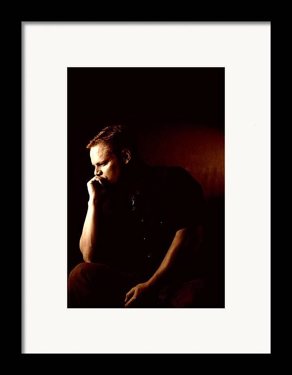 Self Framed Print featuring the photograph Self Portrait In Copper by Monte Arnold