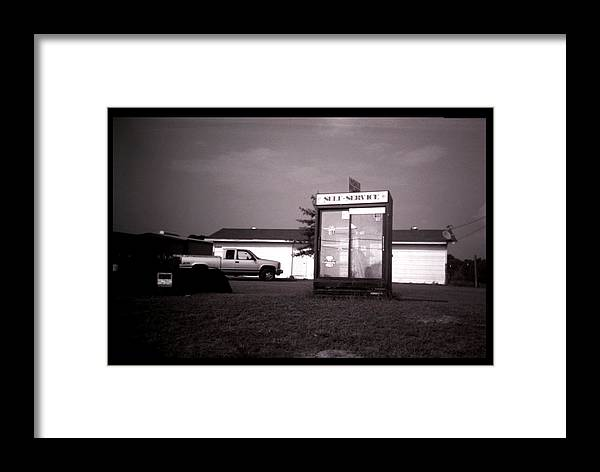 Louisiana Framed Print featuring the photograph Self Service- Winnsboro Road- La Hwy 15 by Doug Duffey