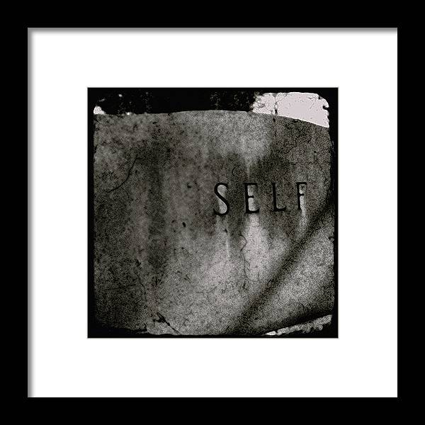 Tombstone Framed Print featuring the photograph Self by Sharon Kalstek-Coty
