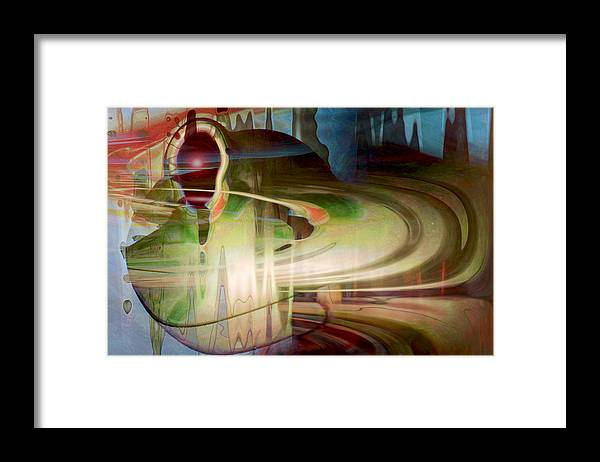 Spheres Framed Print featuring the digital art Sensing The Spheres by Linda Sannuti