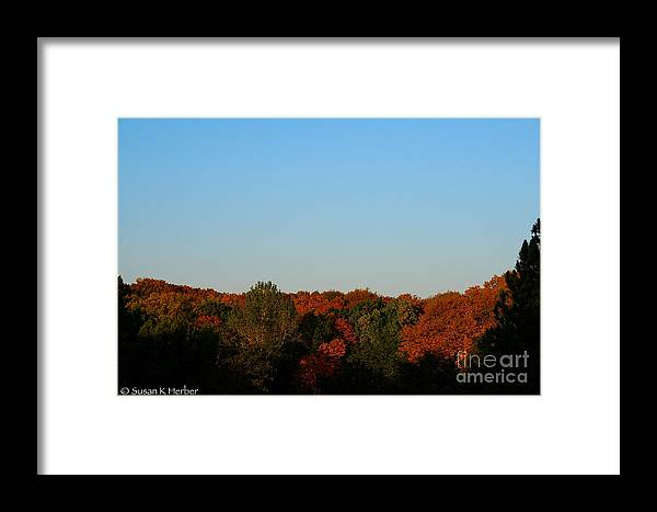 Outdoors Framed Print featuring the photograph September Morning by Susan Herber
