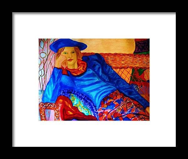 Figure Painting Framed Print featuring the painting Serenity by Marie-Louise J