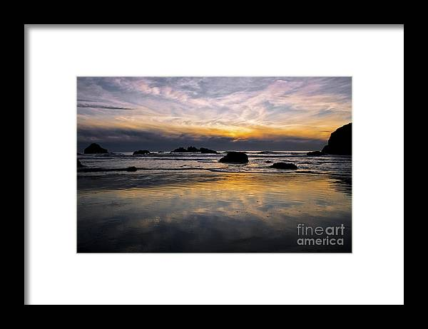 Ocean Framed Print featuring the photograph Serenity by Rachelle Crockett