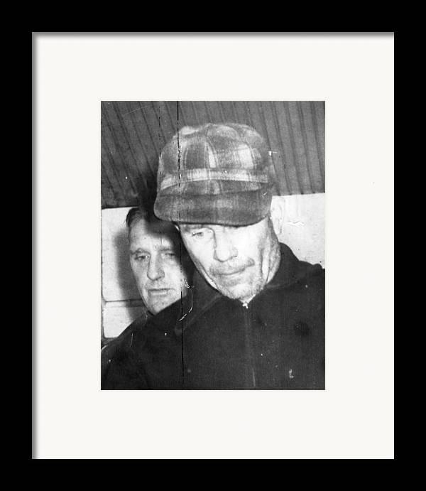 1950s Candids Framed Print featuring the photograph Serial Killer Ed Gein, Plainfeld by Everett
