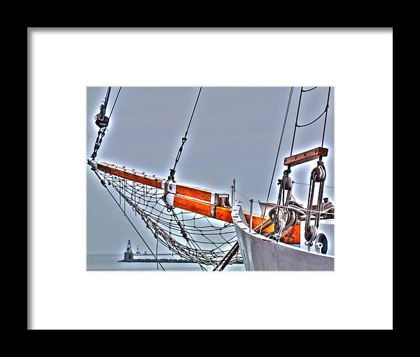 Live Life's Adventures Framed Print featuring the digital art Setting Sail by Barry R Jones Jr