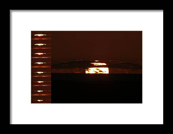 Physics Framed Print featuring the photograph Setting Sun by Laurent Laveder