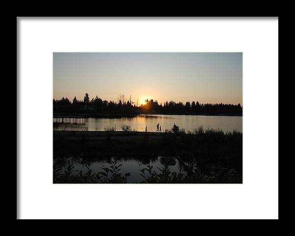 Summer Framed Print featuring the photograph Setting Sun by Michael Merry