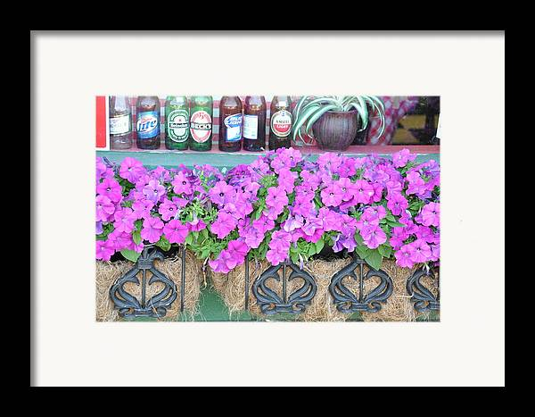 Floral Framed Print featuring the photograph Seven Bottles Of Beer On The Wall by Jan Amiss Photography
