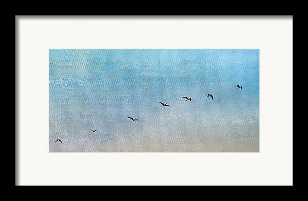 Geese Framed Print featuring the photograph Seven by Rebecca Cozart