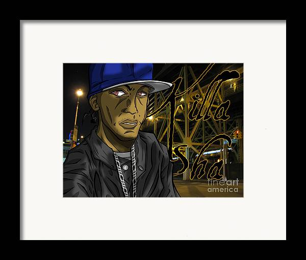 Tuan Framed Print featuring the drawing Sha Lumi The Great by Tuan HollaBack