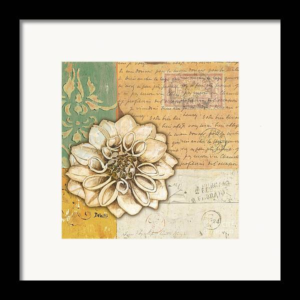 Flower Framed Print featuring the painting Shabby Chic Floral 1 by Debbie DeWitt