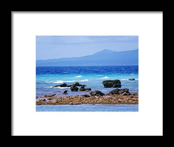 Caribbean Framed Print featuring the photograph Shades Of Blue by Philip G