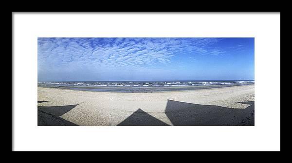 Shadows Framed Print featuring the photograph Shadows Utah Beach by Jan W Faul