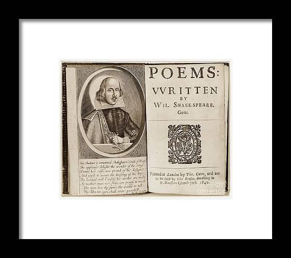 Shakespeare: Poems Framed Print by Granger
