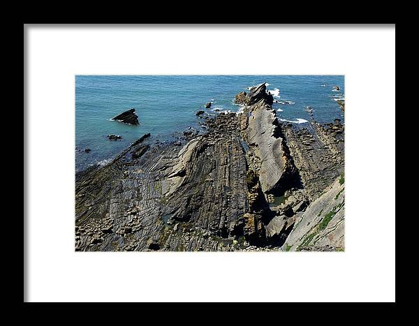 Shale Framed Print featuring the photograph Shale Coastline by Dr Keith Wheeler